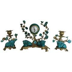 Louis XV Style Garniture Clock Set