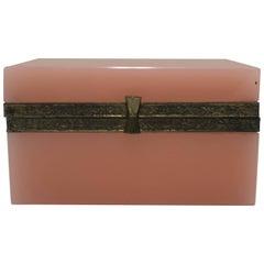 Modern Italian Pink Murano Art Glass Jewelry Box, Italy