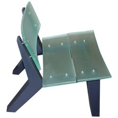 Rob Edley Welborn Prototype Lounge Chair in Plexiglass and Painted Wood