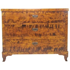 19th Century French Louis Philippe Tiger Maple Commode