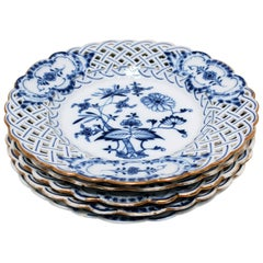 Blue and White Meissen Porcelain Plates