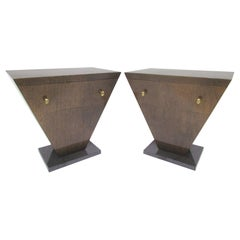 Pair of Leavitt Weaver Art Deco Style End Tables or Nightstands