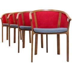 Characteristic Magnus Olesen Teak Dining Chairs, Rud Thygesen & Johnny Sørensen