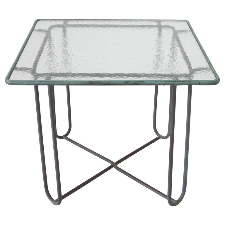 Walter Lamb Square Patio Dining Table For Sale