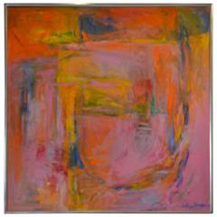 Large Abstract Painting titled PASSIONATE by Artist Sean Young