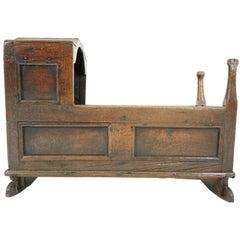 Antique Wooden Babys Cradle, Scotland, 1750