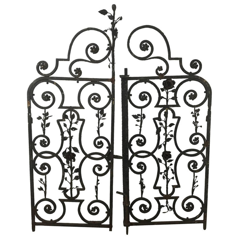 Decorative Wrought Iron Impressive Arts And Crafts Decorative Wrought Iron Gates For Sale At 1Stdibs 2017