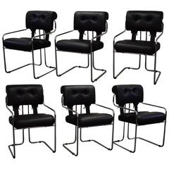 Set of Six Guido Faleschini 'Tucroma' Chairs for Pace Collection