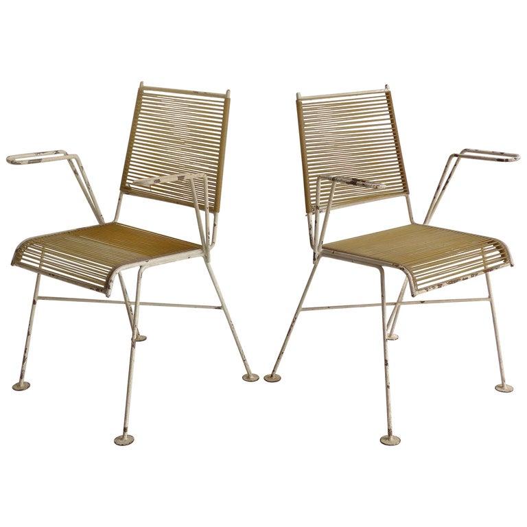 1950s Mathieu Matégot French Garden Chairs, Pair