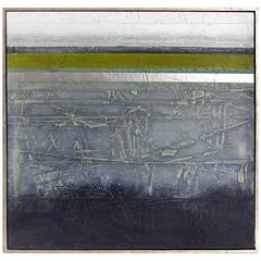 1970s Mixed-Media Painting Incorporating Subtle Textures