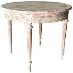 19th Century Swedish Gustavian Style Round Table