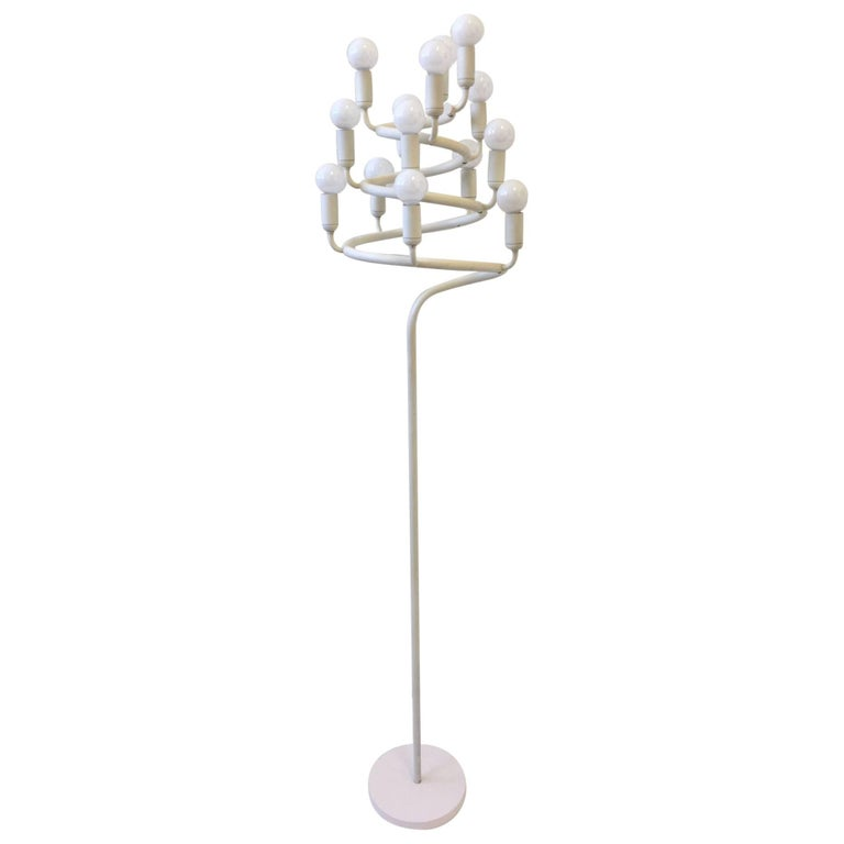 Spiral Candelabra Floor Lamp by Laurel