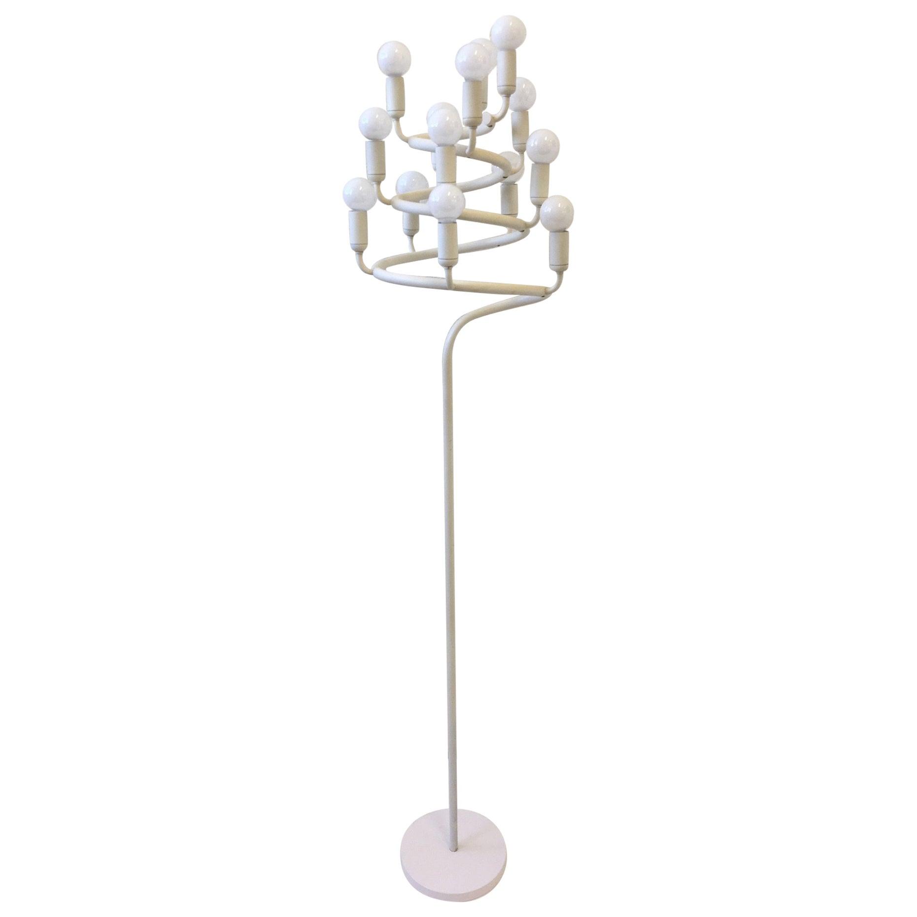 Spiral Candelabra Floor Lamp by Laurel
