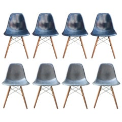 Navy and Elephant Grey Eames Dining Set