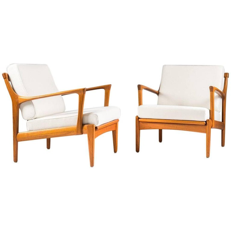 "Scandinavian Easy Chairs ""Kuba"" by Bertil Fridhagen for Bröderna Andersson"