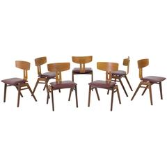 Rare Set of Seven Combex Chairs by Cees Braakman for UMS Pastoe, 1950s