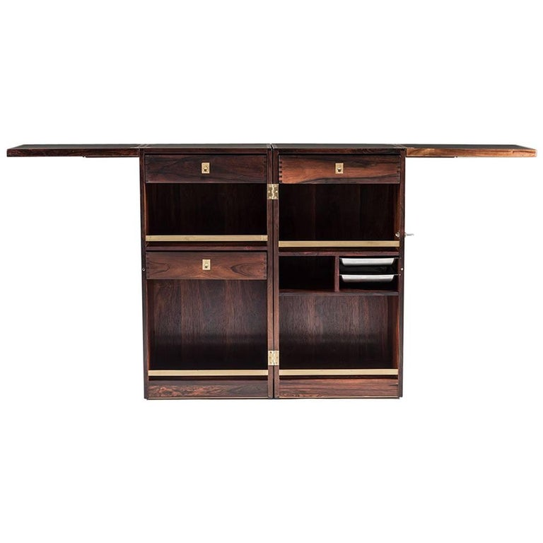 Danish Bar Cabinet by Reno Wahl Iversen for Dyrlund For Sale