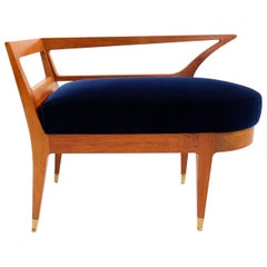 Super Elegant Bench Stool Attributed to Gio Ponti