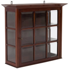 Elegant Dutch Art Nouveau Wall Cabinet with Beveled Glass, 1900s