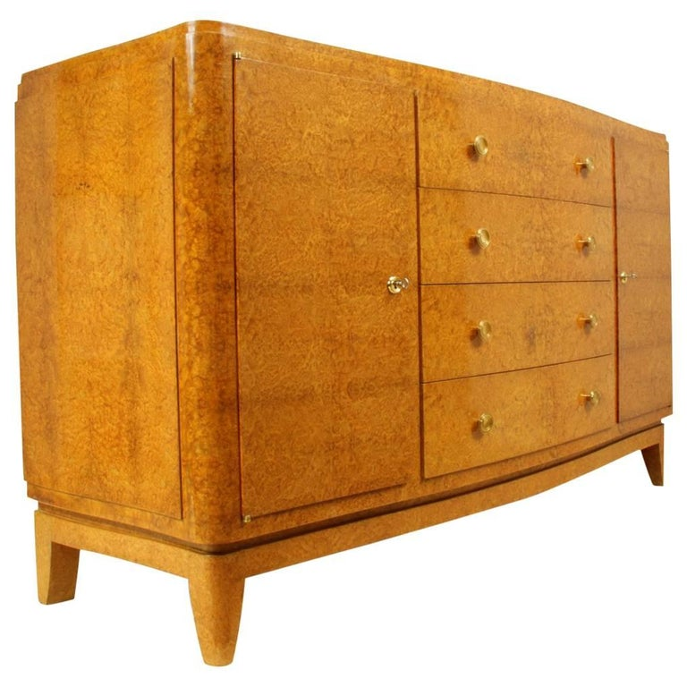Art Deco Amboyna Commode by Liane Flamant, circa 1930