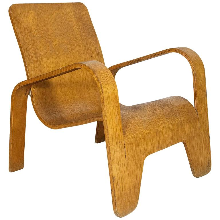 Lounge Chair by Han Pieck for Lawo Ommen, circa 1940, Netherlands For Sale