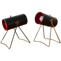 Set of Two Rare Table Lamps by Svend Aage Holm Sørensen for ASEA, Sweden, 1950s