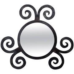 Funky Wrought Iron Mirror
