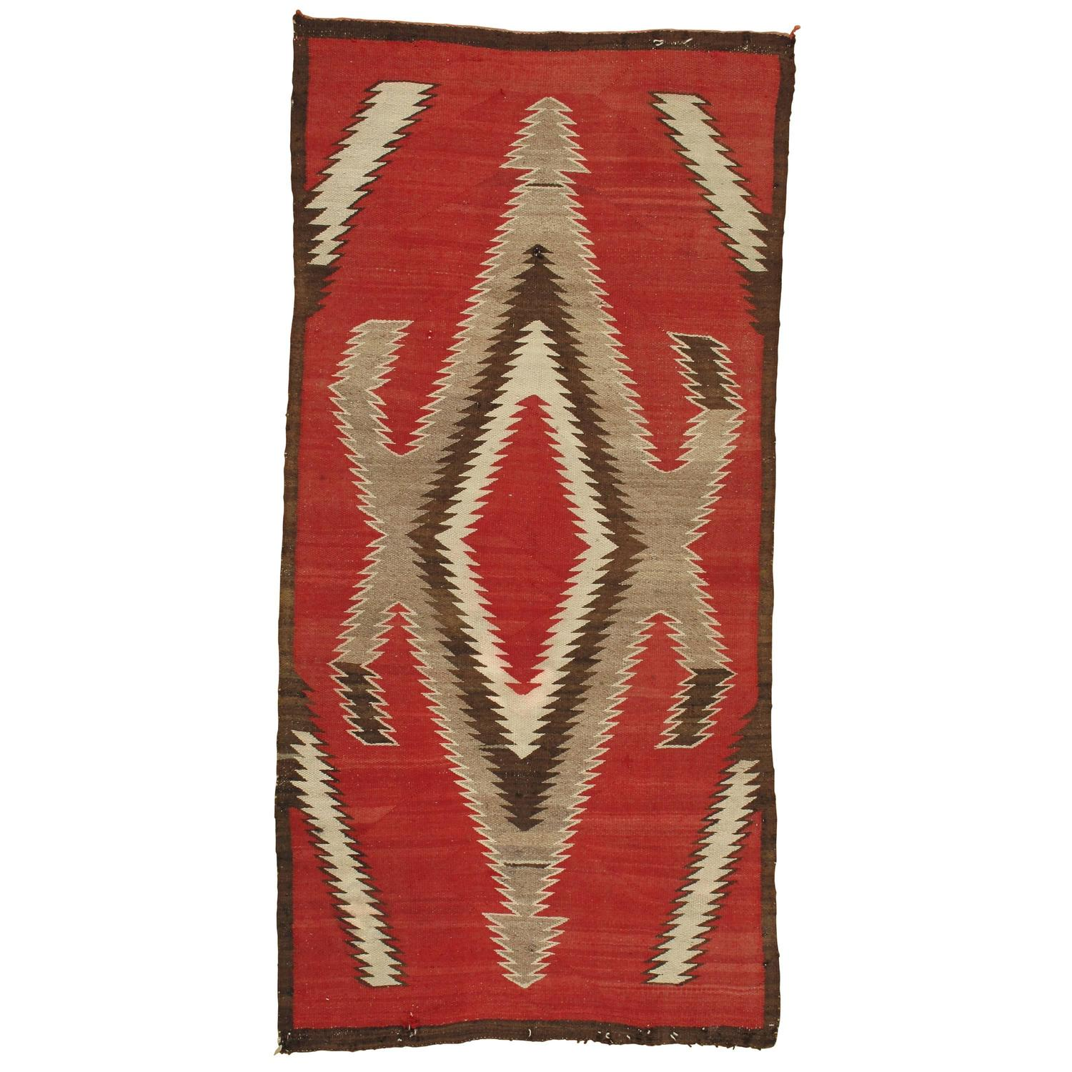 Vintage Navajo Rug In Storm Pattern At 1stdibs