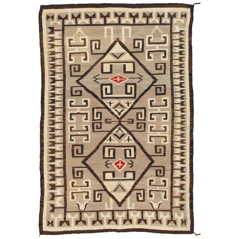 Antique Fine Navajo Rug, Oriental Rug, Handmade Wool Rug