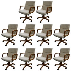 Set of Ten Office Chairs High Quality