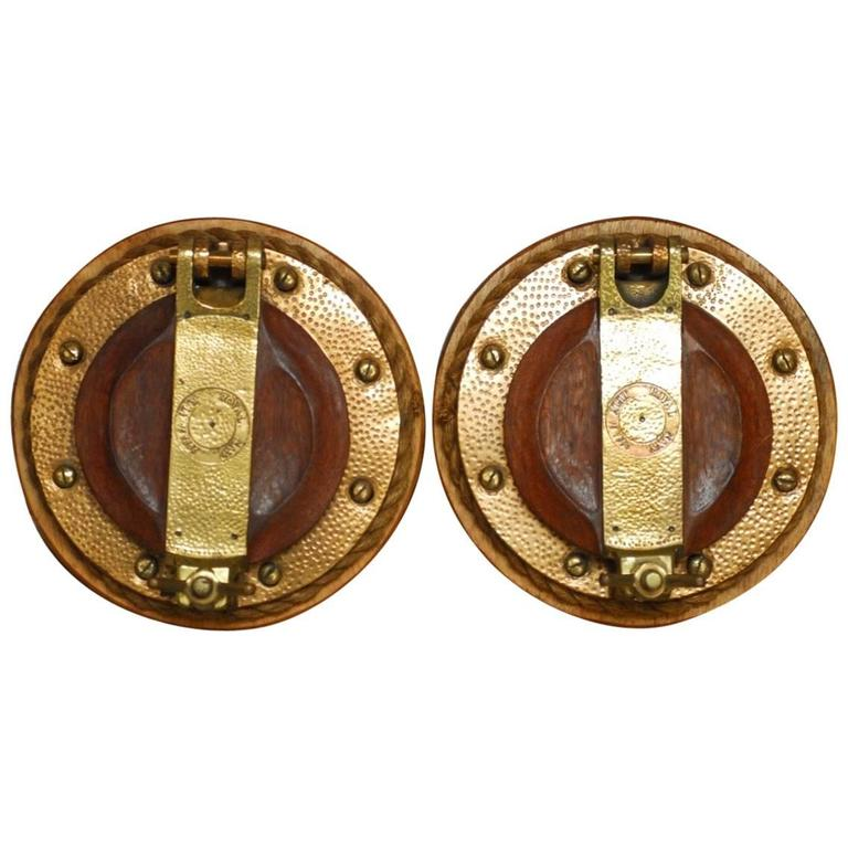 Pair of British Royal Navy Brass Ships Portholes For Sale