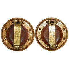 Pair of British Royal Navy Brass Ships Portholes
