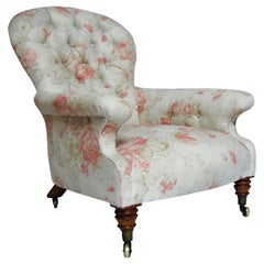 William IV Upholstered Spoon Back Armchair