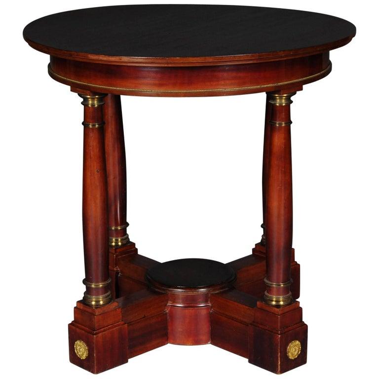 19th Century Empire Salon Table, 1890 For Sale