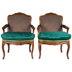 19th Century Pair of Louis Quinze XIV Armchairs