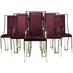 Mid-Century Brass Dining Chairs by Renato Zevi
