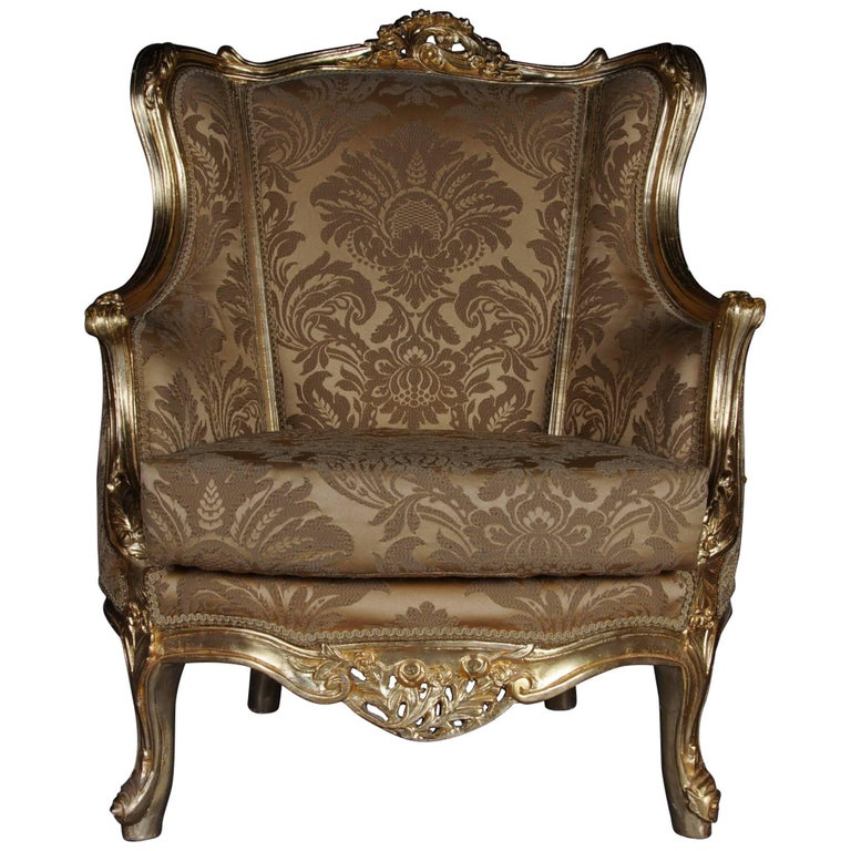 20th Century Louis XV Quinze Bergère Chair, Lounge For Sale