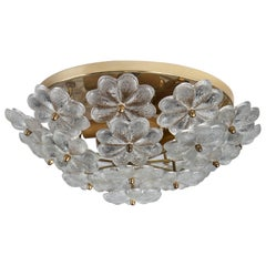 Foliate Glass Flush Mount, circa 1960