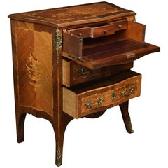 Gilt Metal-Mounted Kingwood and Rosewood Marquetry Commode