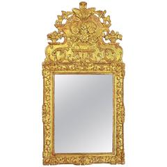 Early 18th Century Regence Giltwood Mirror