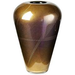 Venini Sommerso Vase by Laura de Santillana, 1986