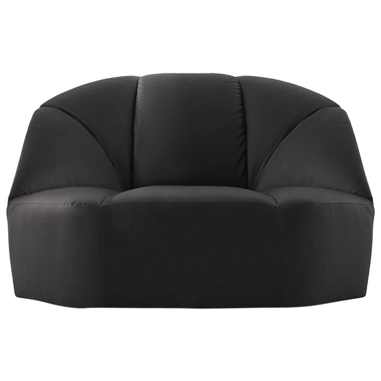 Cloud Armchair in Tufted Velvet, Fabric or Leather by Gallotti & Radice