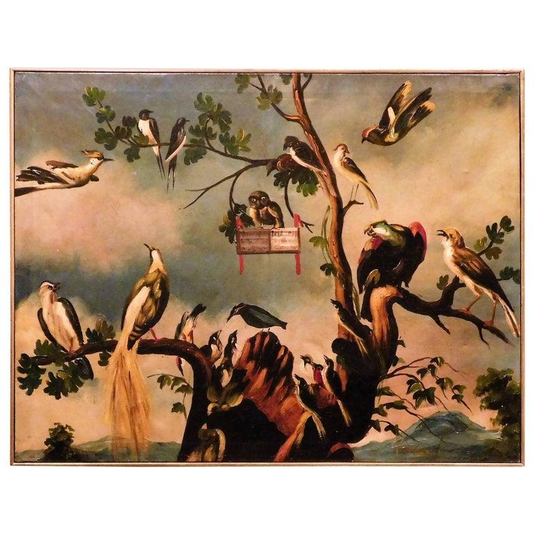 """Oil on Canvas """"A Choir of Birds"""""""