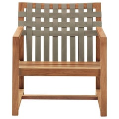 Roda Network 168 Lounge Chair in Teak for Outdoor or Indoor Use