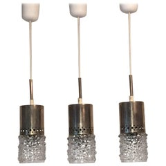 Set of Three Bubble Glass Pendant Lamp