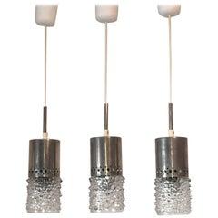 Set of Three Bubble Glass Pendant Lamp