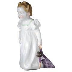 """19th Century Meissen Porcelain Figurine """"Hentschelkind"""" Art Nouveau"""