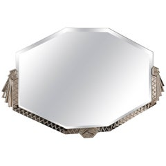 Art Deco Bronze Mirror