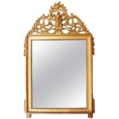 Beautiful Late Louis XVI Period Giltwood Mirror, France, Late 18th Century