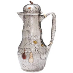Tiffany Sterling Silver and Mixed Metals Coffee Jug